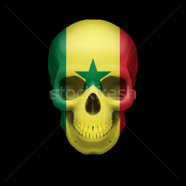 Senegalese flag skull Stock photo © dvarg