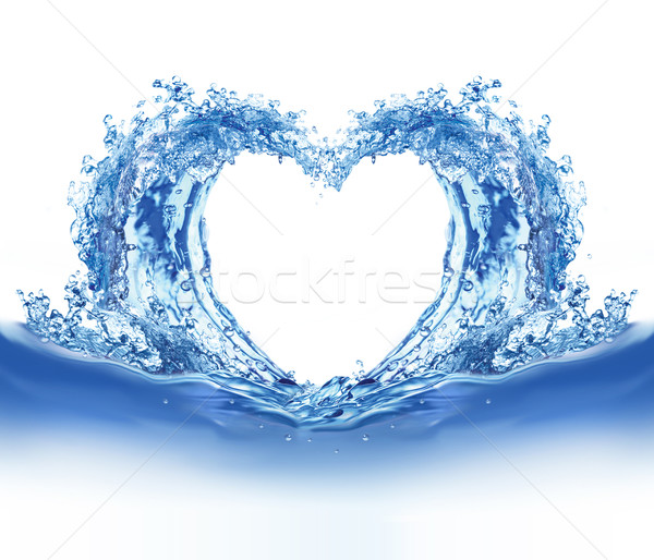 Blue water heart Stock photo © dvarg