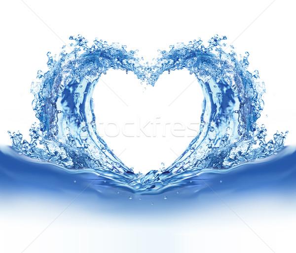 синий воды сердце иллюстрация белый стекла Сток-фото © dvarg