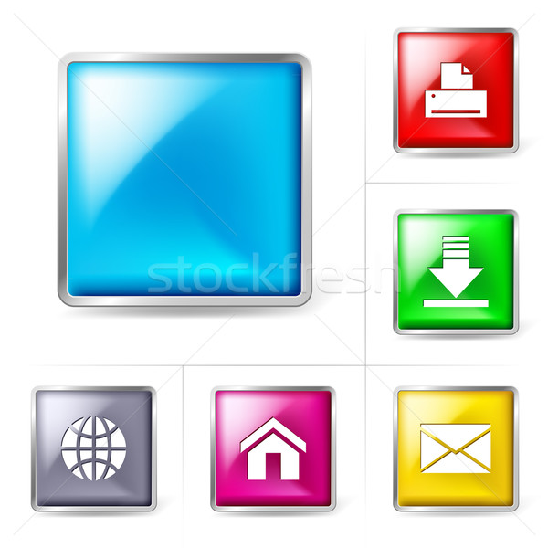 Abstract computer internet icons. Illustration for design on whi Stock photo © dvarg