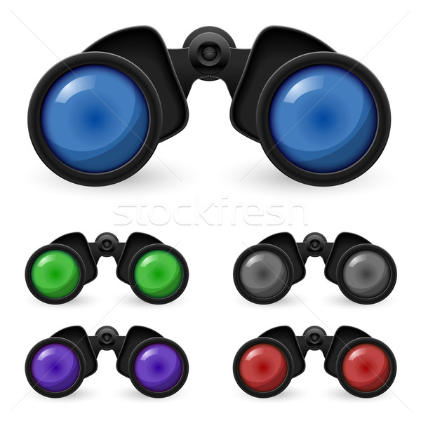 Set of realistic binoculars Stock photo © dvarg