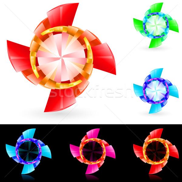 Abstract draaikolk ingesteld illustratie ontwerp achtergrond Stockfoto © dvarg