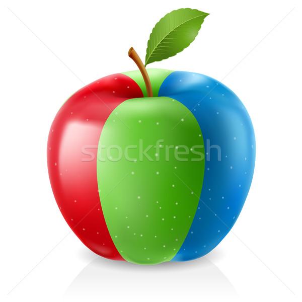 Delicious RGB apple Stock photo © dvarg
