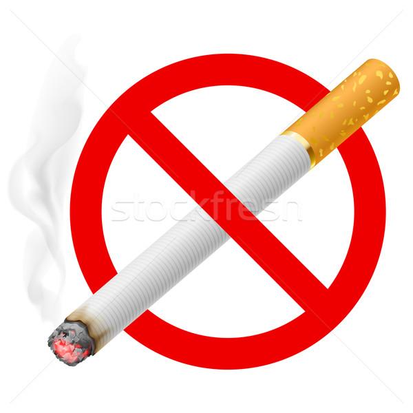 The sign no smoking Stock photo © dvarg