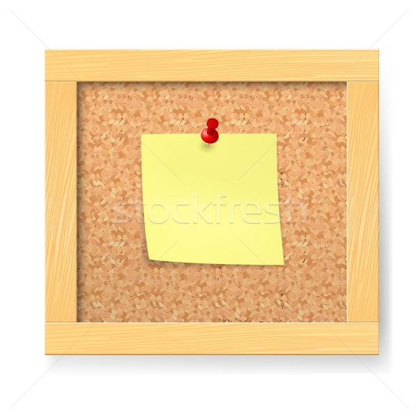 Leer Bekanntmachung Holzbrett Illustration weiß Büro Stock foto © dvarg