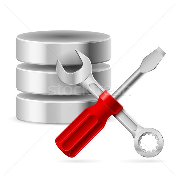 Database icon Stock photo © dvarg