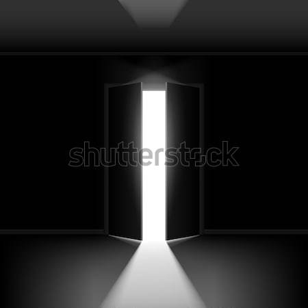 Doubler porte ouverte illustration noir Creative design Photo stock © dvarg