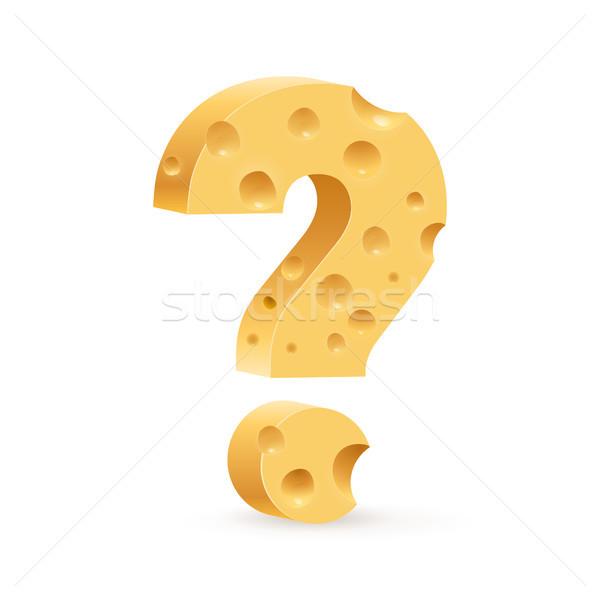 Käse Zeichen Frage Illustration weiß Design Stock foto © dvarg