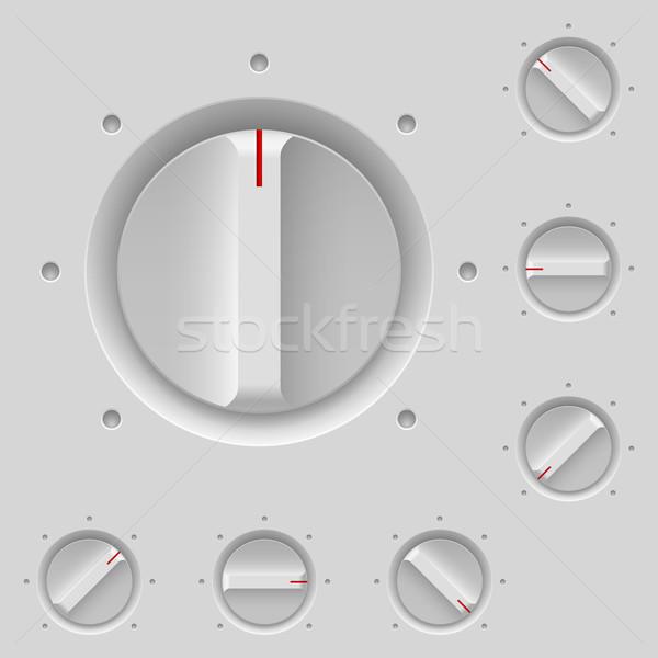 コントロールパネル 実例 グレー ビジネス インターネット ラジオ ストックフォト © dvarg