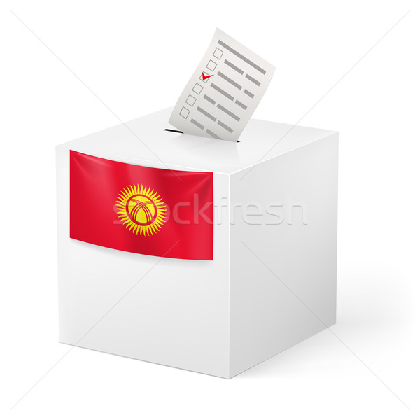 Ballot box with voting paper. Kyrgyzstan Stock photo © dvarg