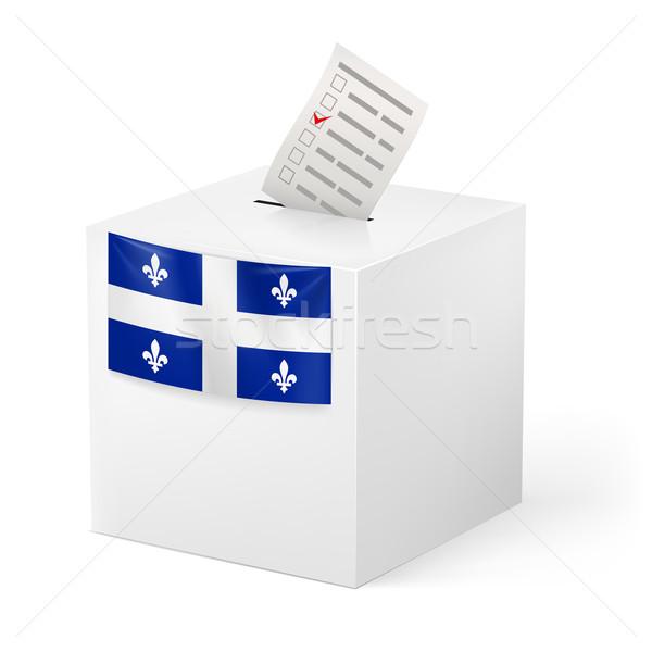 Stemmen vak papier Quebec verkiezing Stockfoto © dvarg
