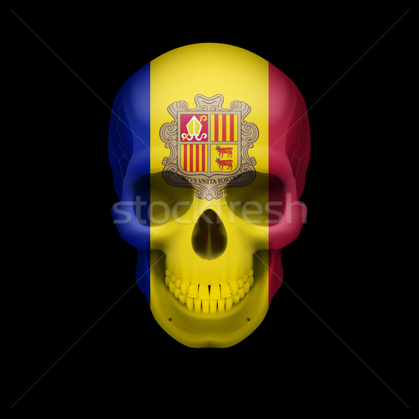 Andorran flag skull Stock photo © dvarg