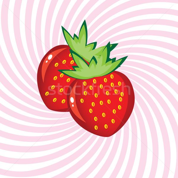 食欲をそそる イチゴ 実例 抽象的な ピンク 食品 ストックフォト © dvarg