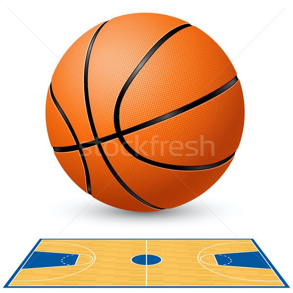 Basketball court floor plan. Stock photo © dvarg