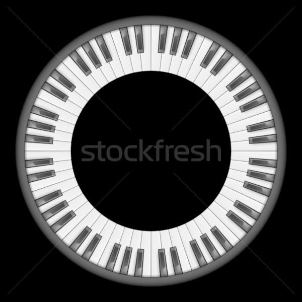 Pianotoetsen illustratie creatieve ontwerp zwarte Stockfoto © dvarg