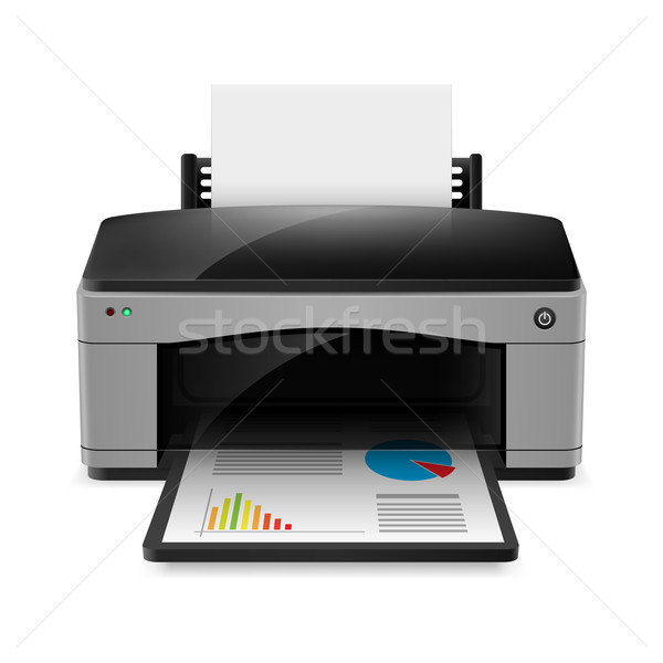 Realistic printer Stock photo © dvarg