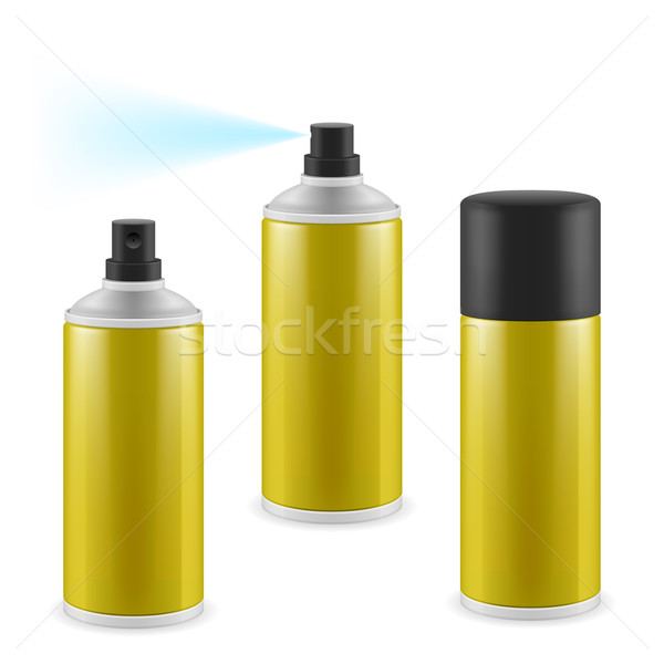 Golden spray cans Stock photo © dvarg