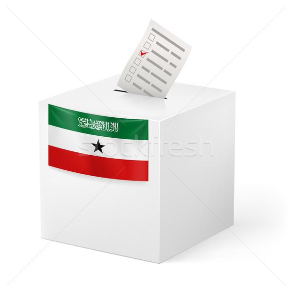 Ballot box with voting paper. Somaliland Stock photo © dvarg