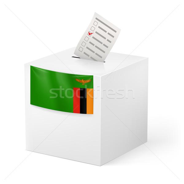 Oylama kutu kâğıt Zambiya seçim Stok fotoğraf © dvarg