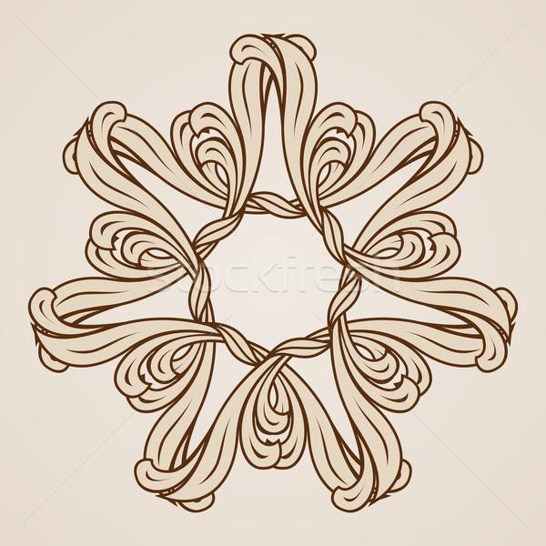 Kwiatowy wzór ilustracja świetle ciemne Zdjęcia stock © dvarg