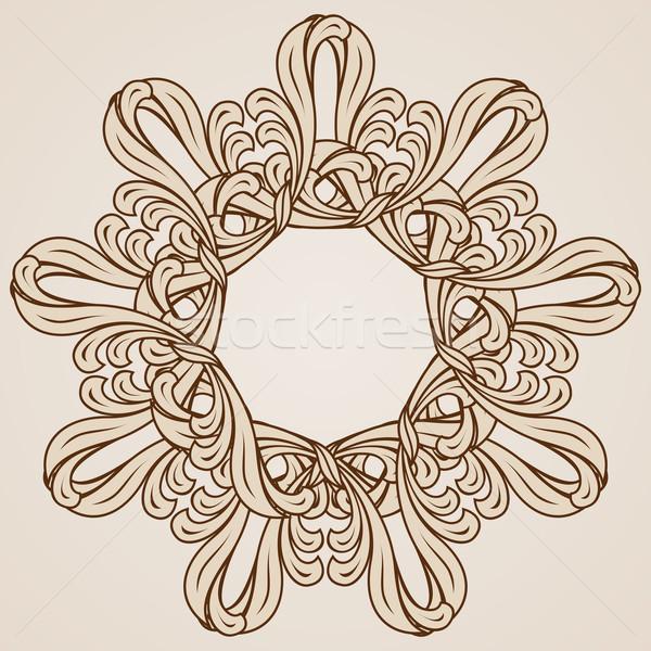 Kwiatowy wzór streszczenie świetle ciemne brązowy Zdjęcia stock © dvarg