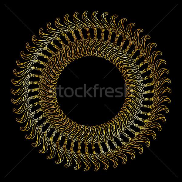 Złoty kwiatowy wzór streszczenie złota kolory Zdjęcia stock © dvarg