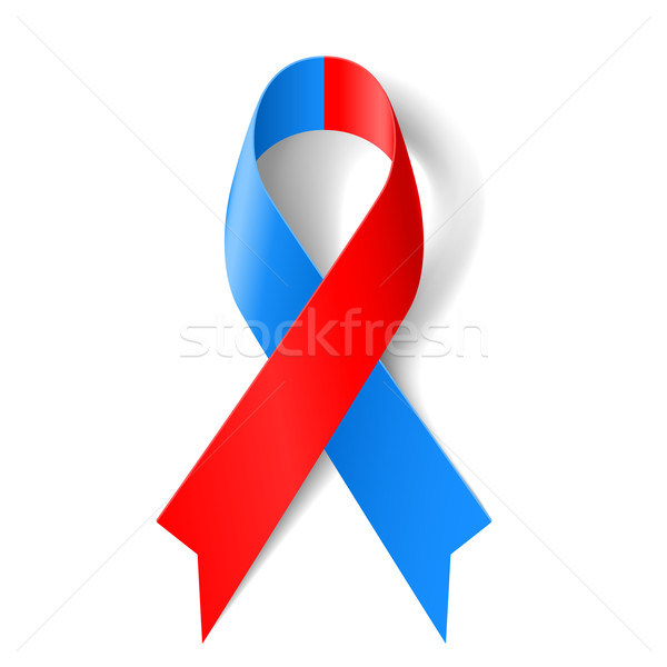 Red and blue ribbon Stock photo © dvarg