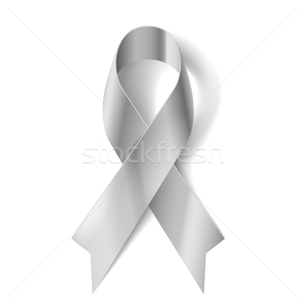 Stock photo: Silver ribbon