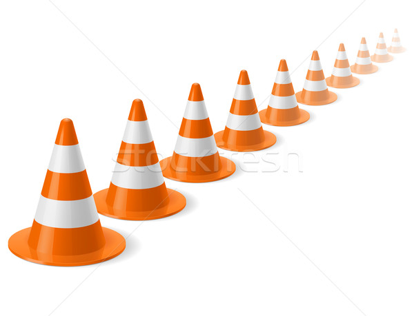 Row of traffic cones Stock photo © dvarg