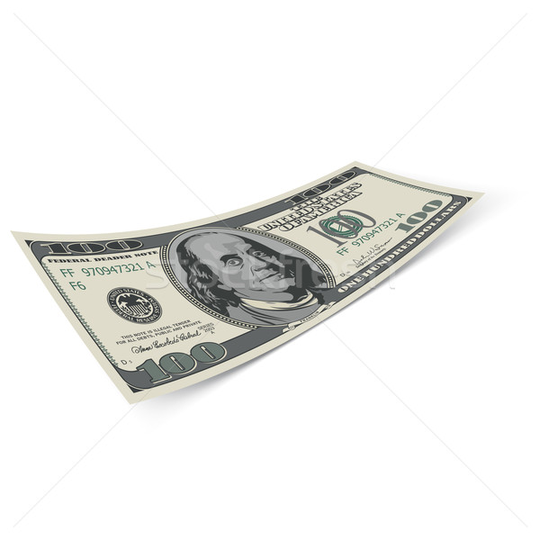 Honderd dollar Bill bankbiljet witte geld Stockfoto © dvarg