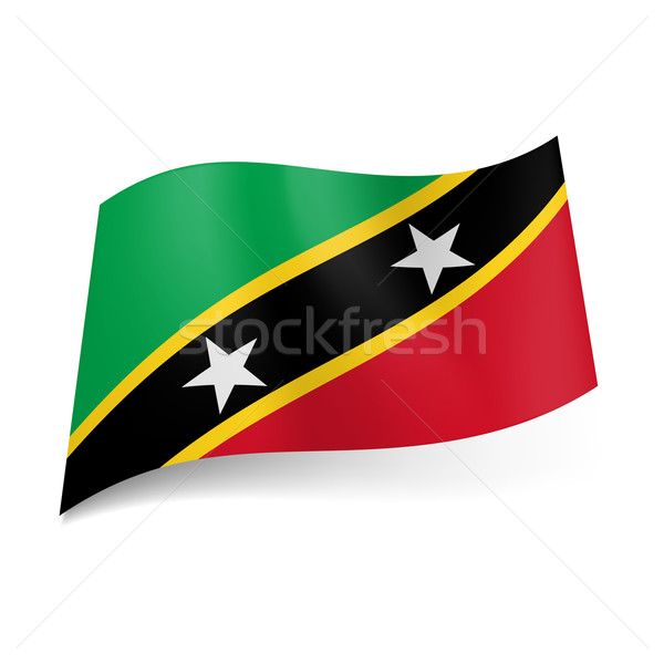 State flag of Saint Kitts and Nevis Stock photo © dvarg