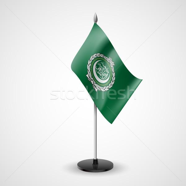 Mesa bandera árabes liga conferencia escritorio Foto stock © dvarg