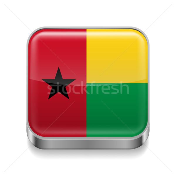 Metal  icon of Guinea Bissau Stock photo © dvarg