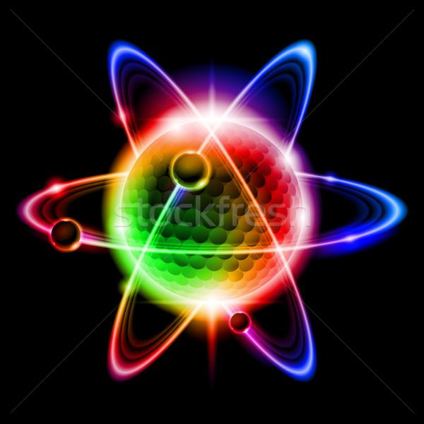 Verde átomo elétron abstrato ciência energia Foto stock © dvarg