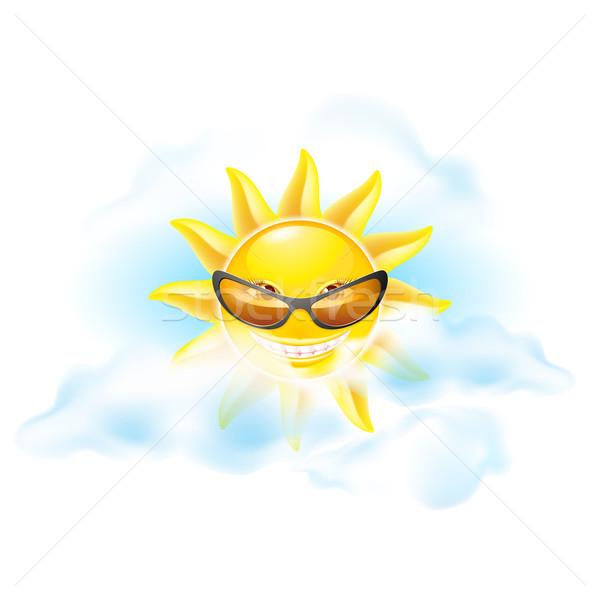 Cartoon sun Stock photo © dvarg