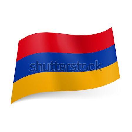 флаг Армения красный синий желтый горизонтальный Сток-фото © dvarg