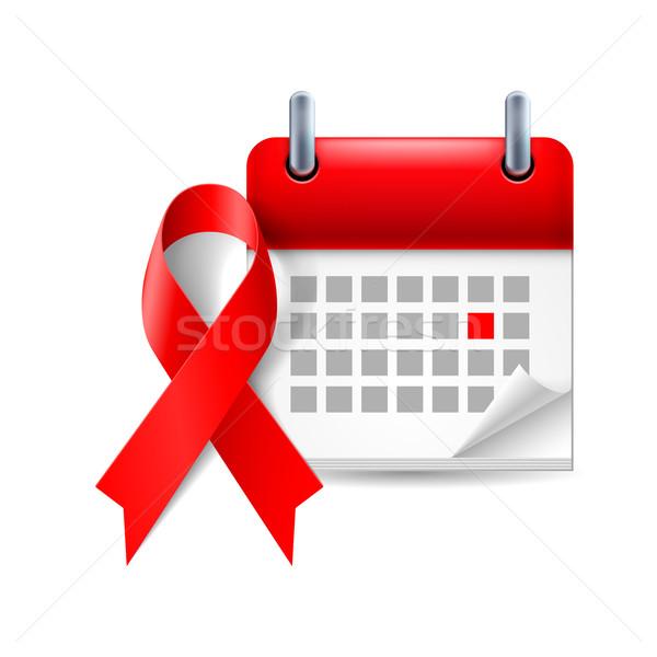 補助 認知度 リボン カレンダー 世界 日 ストックフォト © dvarg