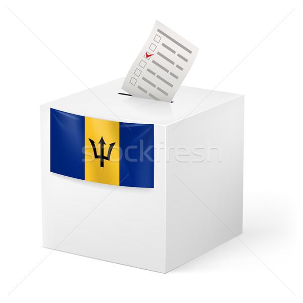 Ballot box with voting paper. Barbados Stock photo © dvarg