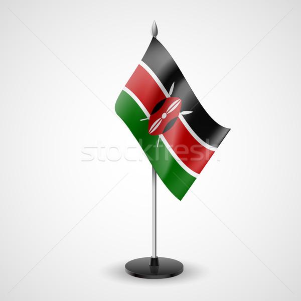 Asztal zászló Kenya világ konferencia asztal Stock fotó © dvarg