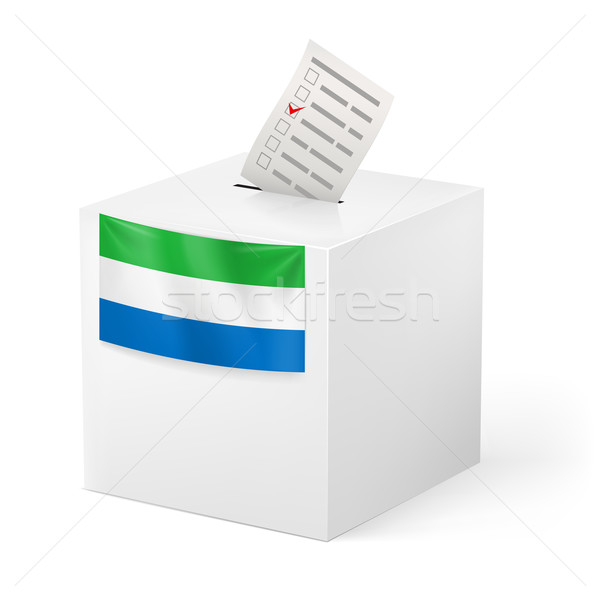Ballot box with voting paper. Sierra Leone Stock photo © dvarg