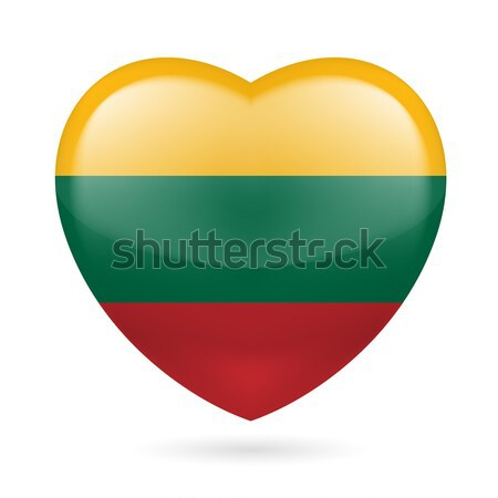 Heart icon of Lithuania Stock photo © dvarg