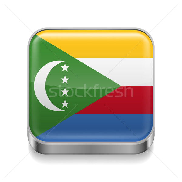 Metal  icon of Comoros Stock photo © dvarg