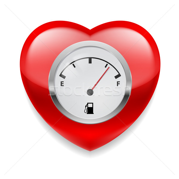сердце топлива индикатор красный Сток-фото © dvarg