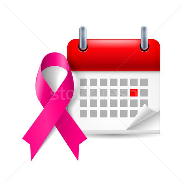 Purple awareness ribbon and calendar Stock photo © dvarg