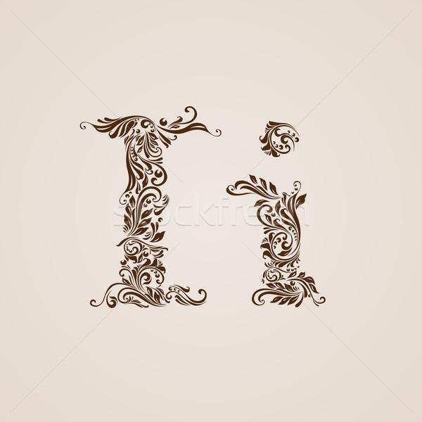 Decorated letter i Stock photo © dvarg
