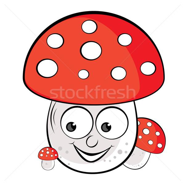 Acrílico ilustração cogumelo venenoso branco comida feliz Foto stock © dvarg