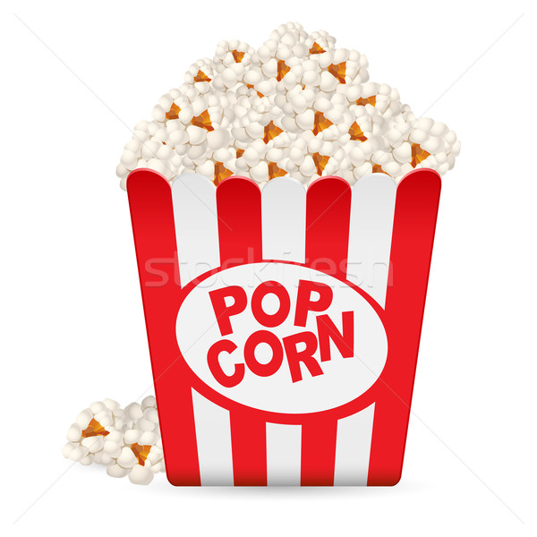 Popcorn in a striped tub  Stock photo © dvarg