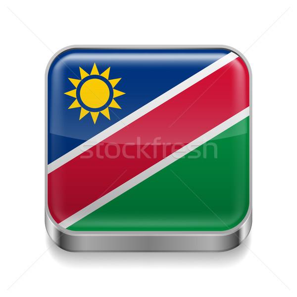Metal  icon of Namibia Stock photo © dvarg