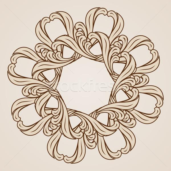 フローラル パターン 抽象的な 実例 光 暗い ストックフォト © dvarg