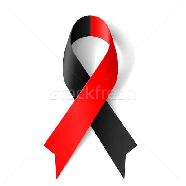 Red and black ribbon Stock photo © dvarg
